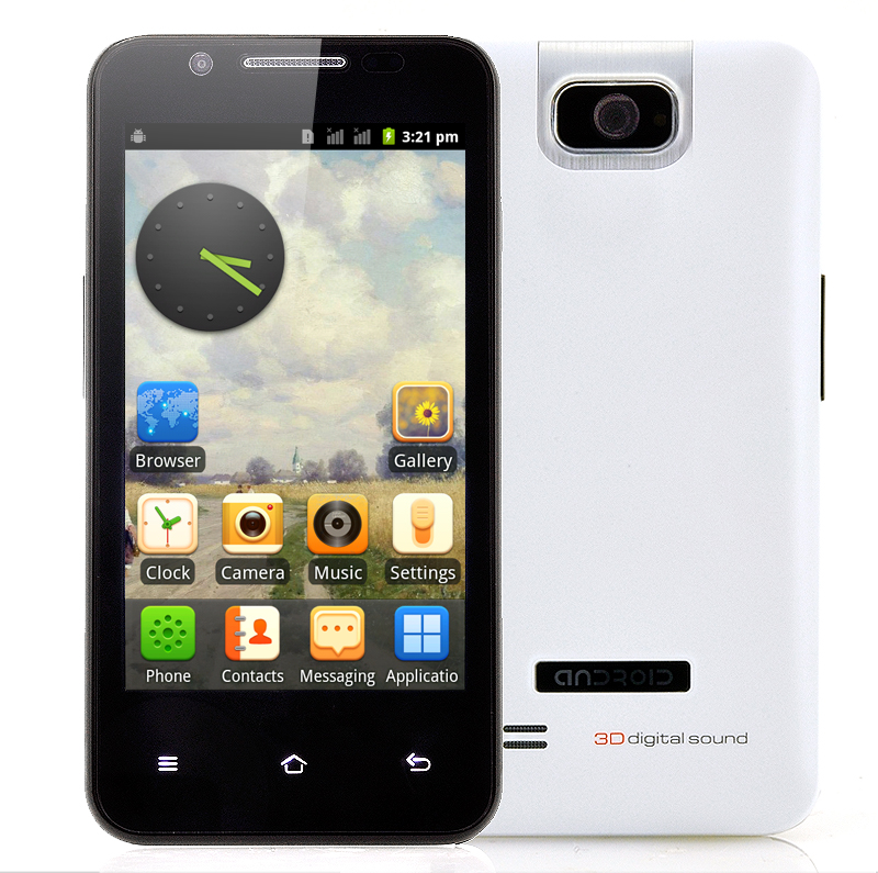 Wholesale Delta - 4 Inch Dual SIM Android Phone (1GHz CPU, Analog TV, White)
