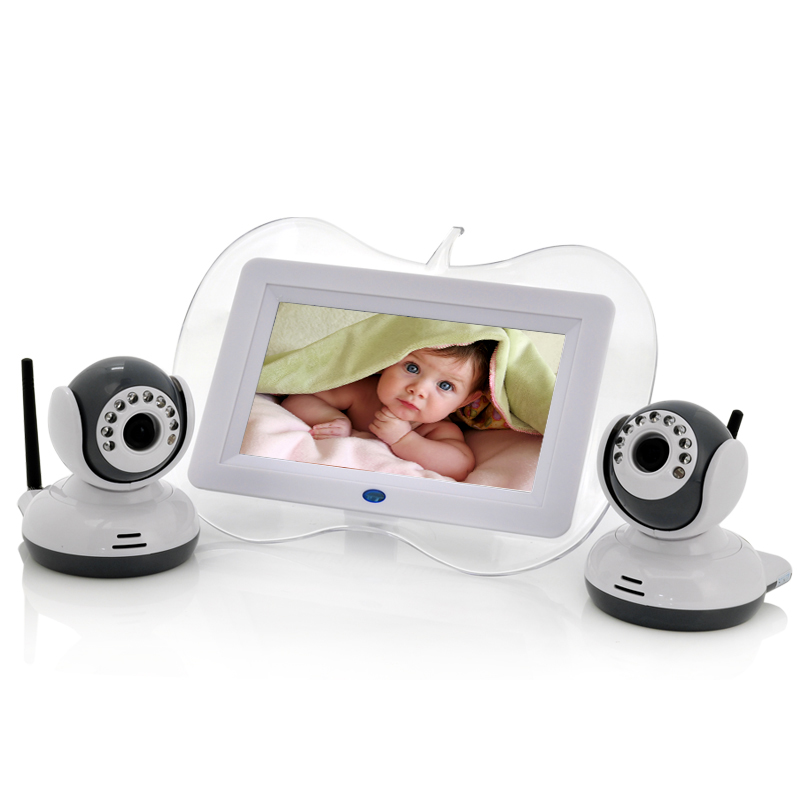 Wholesale Baby Monitor + 2x Night Vision Camera Set (7 Inch, Two Way Inter
