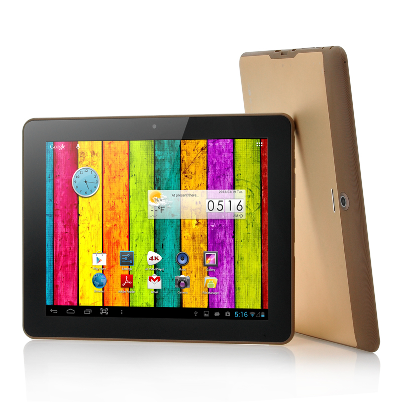 Wholesale Copper - 1.5GHz Quad Core Android 4.1 Tablet (9.7 Inch, 2GB RAM, HDMI, 4K Video)