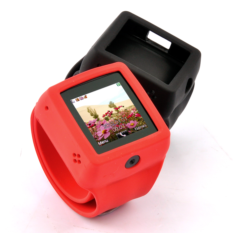 Wholesale Snap-On - Quad Band Watch Phone with Changeable Straps - Red