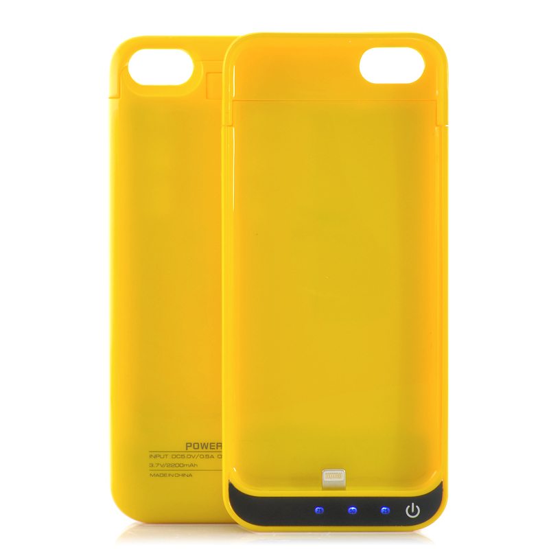 Wholesale 2200mAh External Battery Case with Kick Stand for iPhone 5/5C/5S