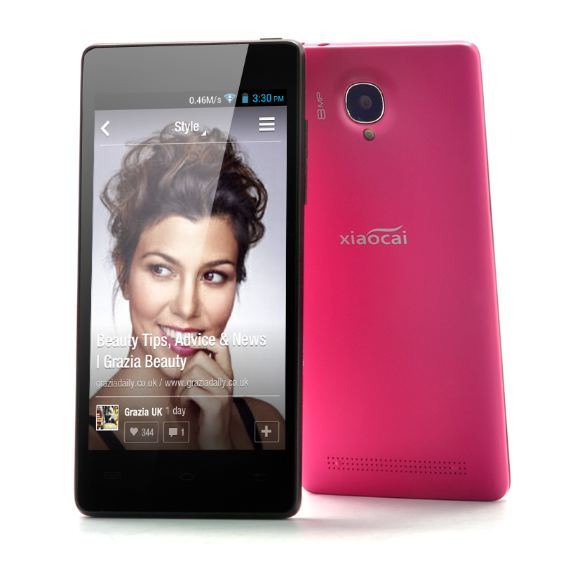 Wholesale XiaoCai X9 - Android 4.2 Quad Core Phone (1.2GHz CPU, 4.5 Inch QHD OGS Screen, 8MP Rear Camera, Red)