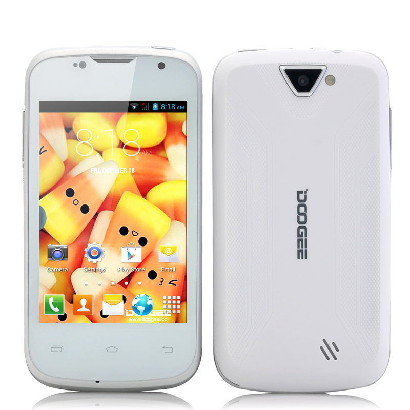 Wholesale DOOGEE Collo 2 DG120 - 3.5 Inch Android 4.2 Phone (480x320 HVGA Screen, MT6572 Dual Core 1GHz CPU, White)