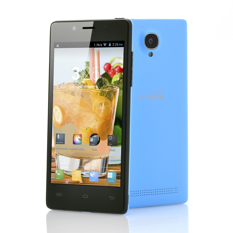 Wholesale XiaoCai X9 - Android 4.2 Quad Core Phone (1.2GHz CPU, 4.5 Inch QHD OGS Screen, 8MP Rear Camera, Blue)