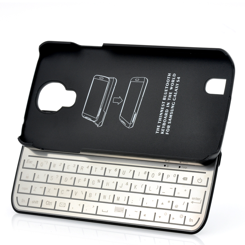Wholesale Detachable Qwerty Keyboard + Case For Galaxy S4 (Bluetooth 3.0, Ultra Slim)