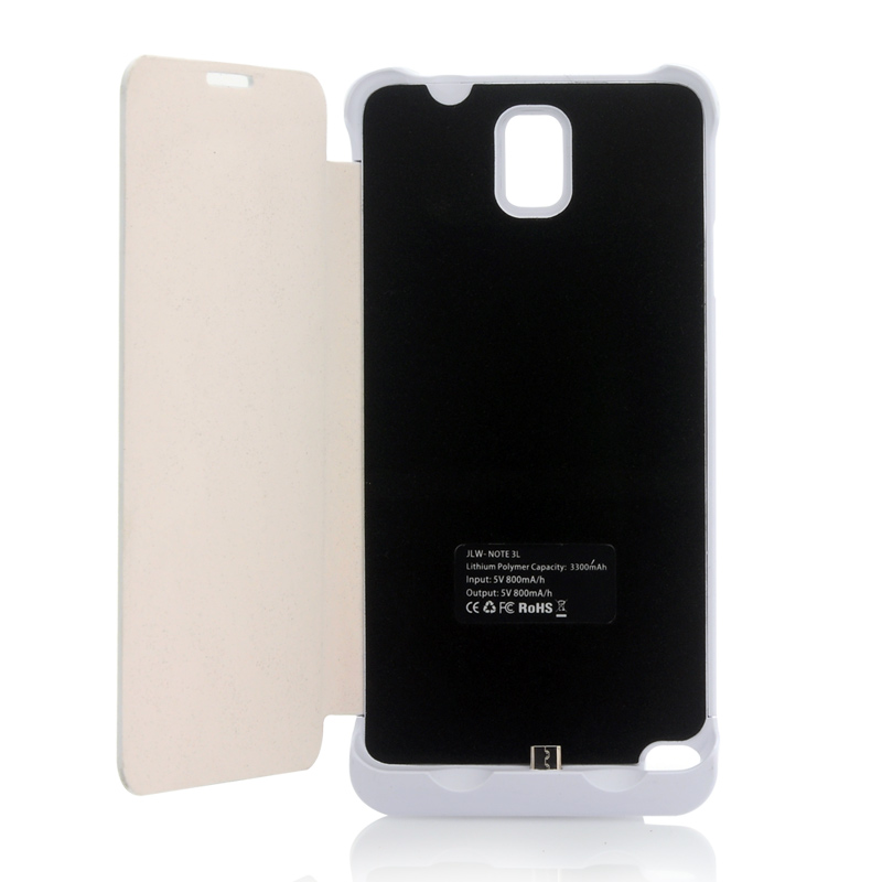 Wholesale 3300mAh External Battery Case With Flip Cover For Samsung Galaxy Note 3
