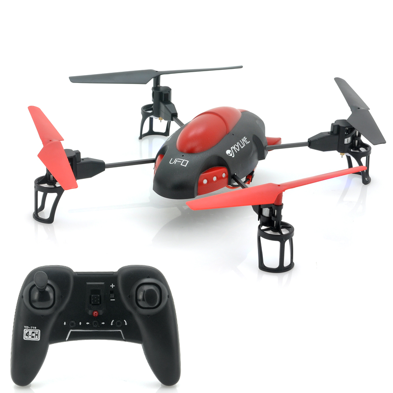 Wholesale Sky-Line 4 Channels RC Quad Copter (50 Meter Range, 2.4GHz)