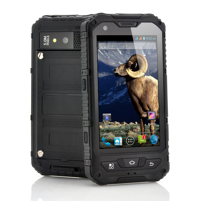 Wholesale Ram - 4 Inch Rugged Android 4.2 Phone (Black, 1.3GHz Dual Core, Shockproof, Dust Proof, IP67 Waterproof)