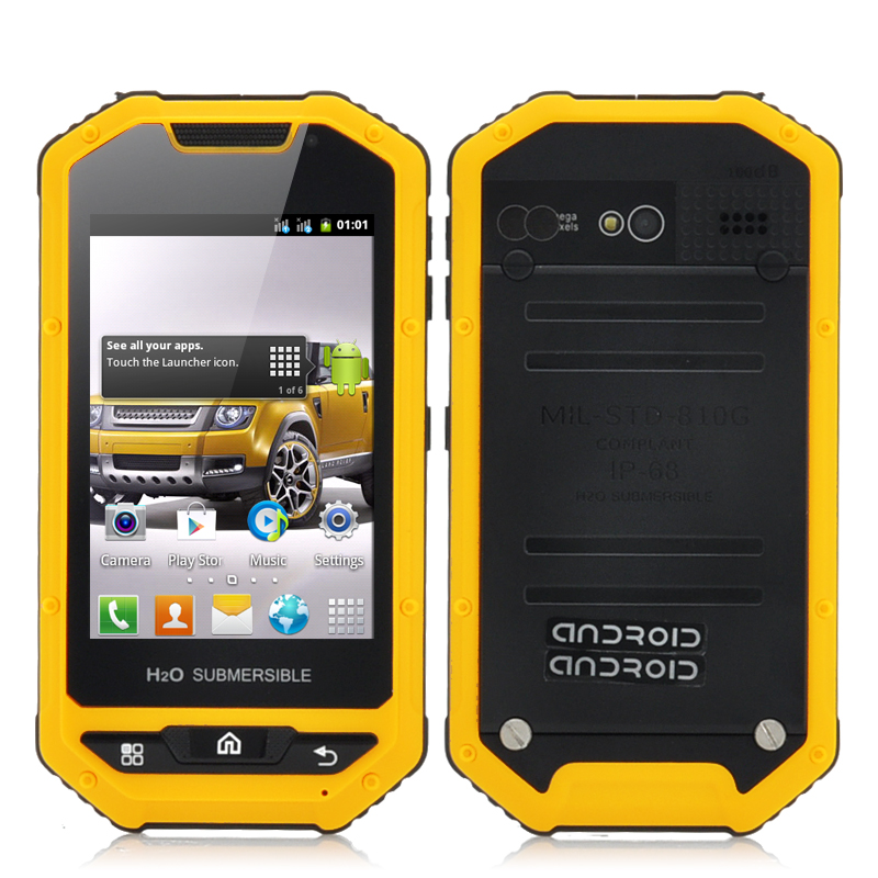 Wholesale Navajo - 3.5 Inch Rugged Android Smartphone (IP53 Water Resistant, Shockproof, Dust Proof, Yellow)