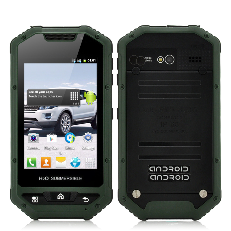 Wholesale Viridion - 3.5 Inch Rugged Android Smartphone (IP53 Water Resistant, Shockproof, Dust Proof, Green)