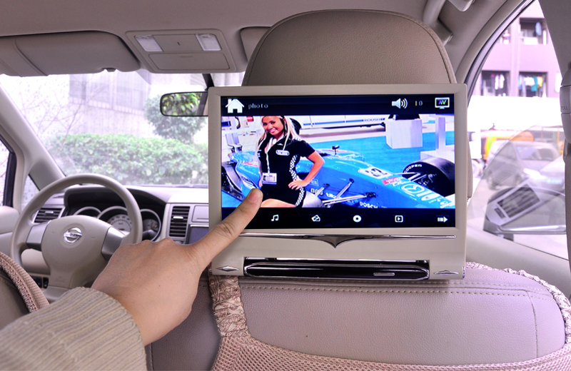 9 Inch Car Headrest Touchscreen Monitor With Mp4 Player