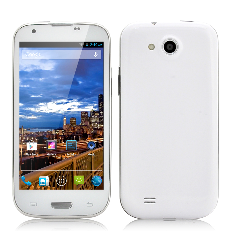 Wholesale Neutron - Budget 4.7 Inch Quad Core Android 4.2 Phone (1.2GHz CPU, 2GB RAM, GPS, White)