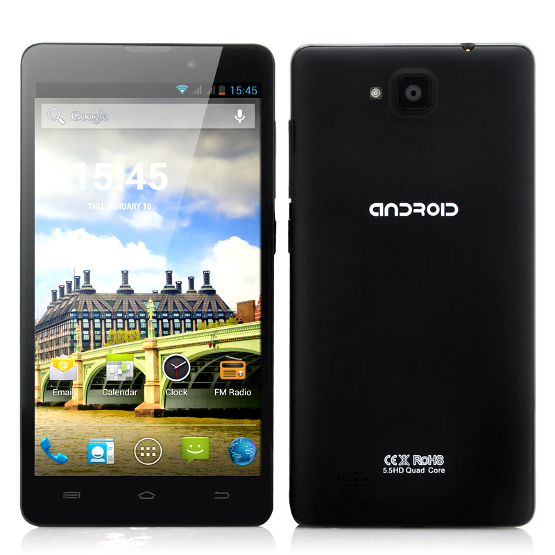 Wholesale Roxx - Budget 5.5 Inch Quad Core Android Phone (720p, GPS + AGPS, 1.2GHz CPU)