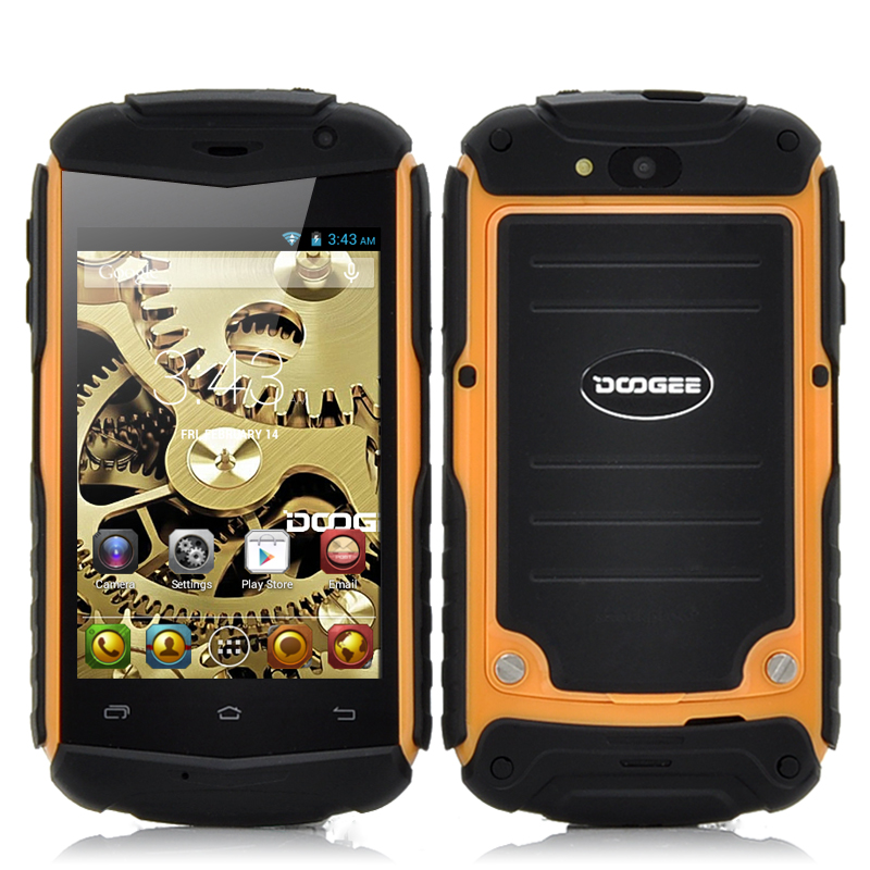 Wholesale DOOGEE TITANS DG150 3.5 Inch Rugged Android Phone (Dual Core 1GHz CPU, Shockproof, Orange)