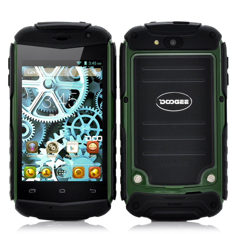 Wholesale DOOGEE TITANS DG150 3.5 Inch Rugged Android Phone (Dual Core 1GHz CPU, Shockproof, Green)
