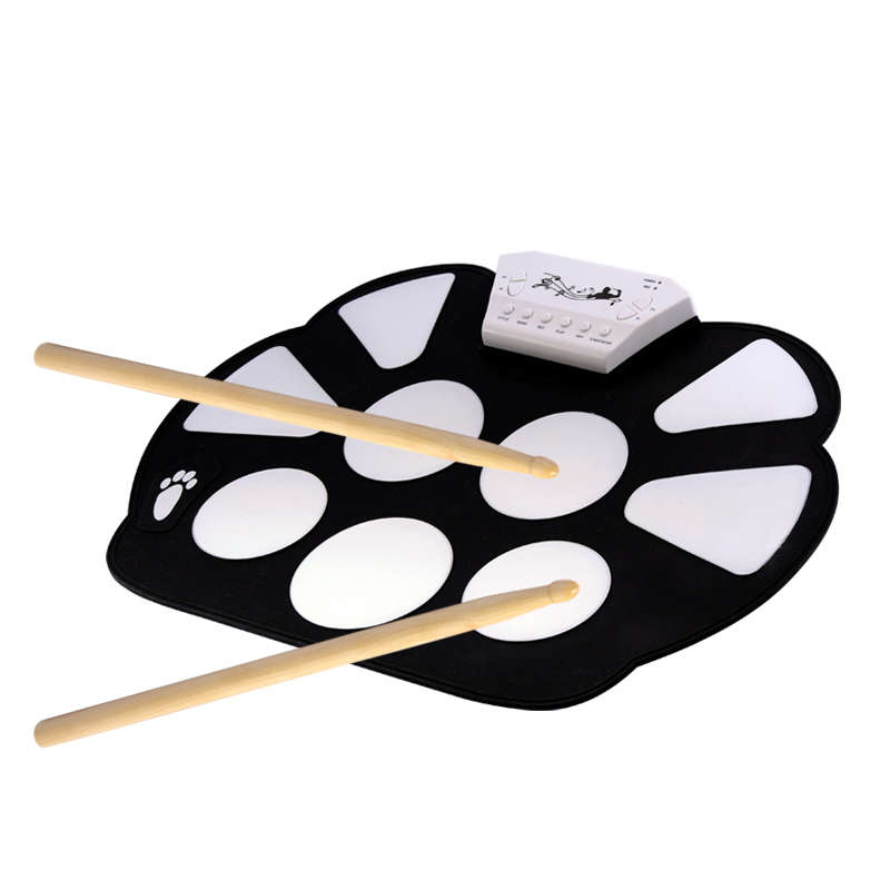Wholesale Portable Flexible Drum Pad with Pedals (9 Drum Area, Record)