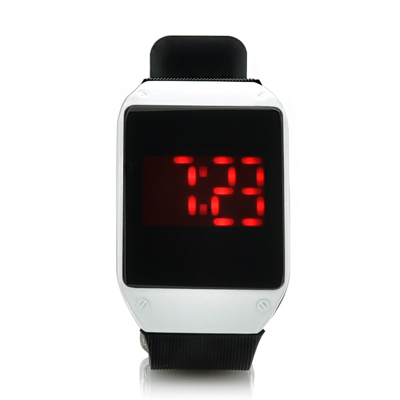 Wholesale Touch Activated LED Watch (28 Red LEDs, One Key Touch Control)
