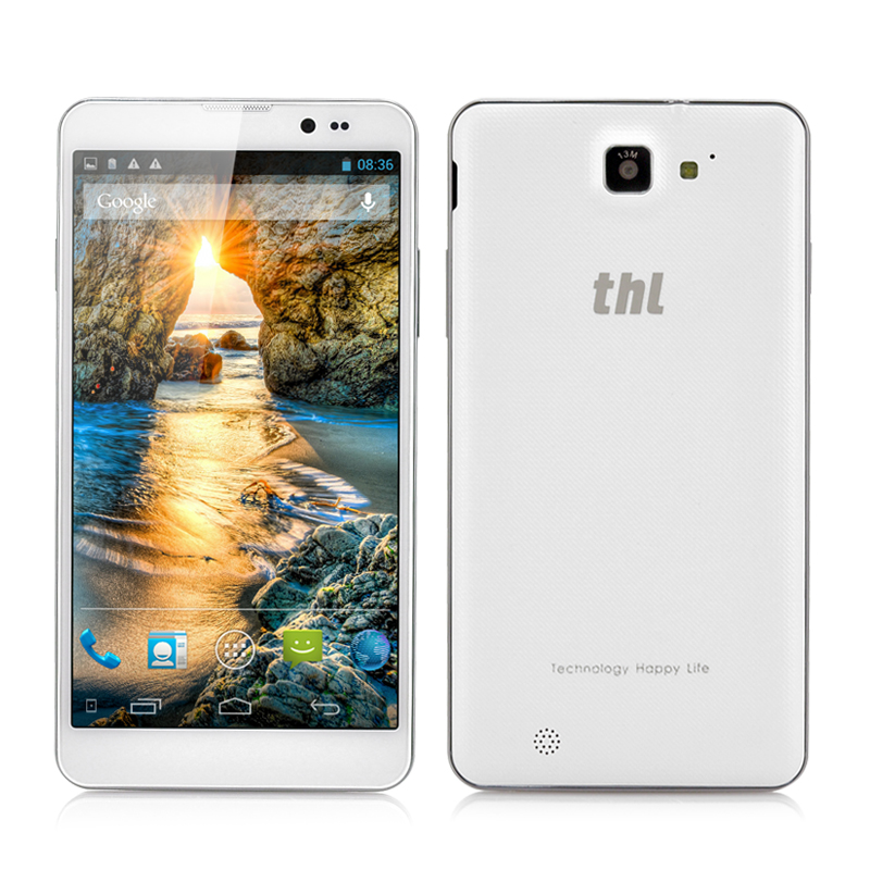 Wholesale thl T200 6 Inch Android True Octa-Core Phone (Gorilla Glass Screen, NFC, 1920x1080, MTK6592 1.7GHz, 32GB ROM, White)