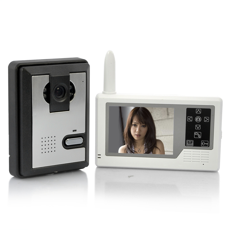 Wholesale Wireless Video Intercom Doorbell with 3.5 Inch Portable Monitor (1/4 Inch CMOS, 6 IR LEDs, 320x240)