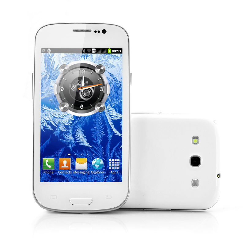 Wholesale Frost - Budget Dual SIM Android Phone (4.3 Inch Screen, 1GHz CPU, Dual Camera)