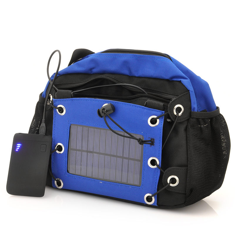 Wholesale Camera Bag with 2200mAh Solar Battery Panel