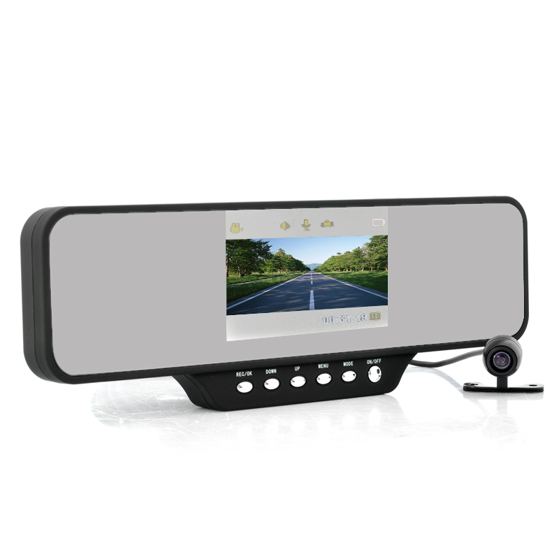 Wholesale 4.3 Inch Car Mirror DVR with Dual Front Camera - Ultra Wide 260 Degree Recording Angle