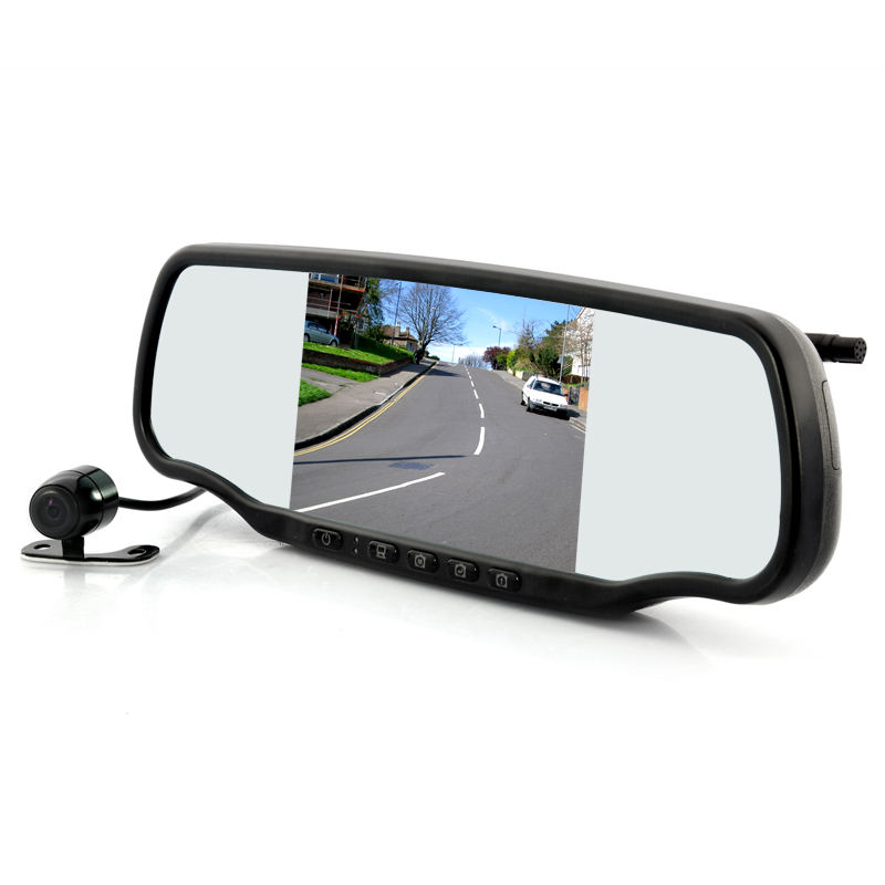 Wholesale 5 Inch Car Rear View Mirror with Dashcam and Wireless Parking Ca