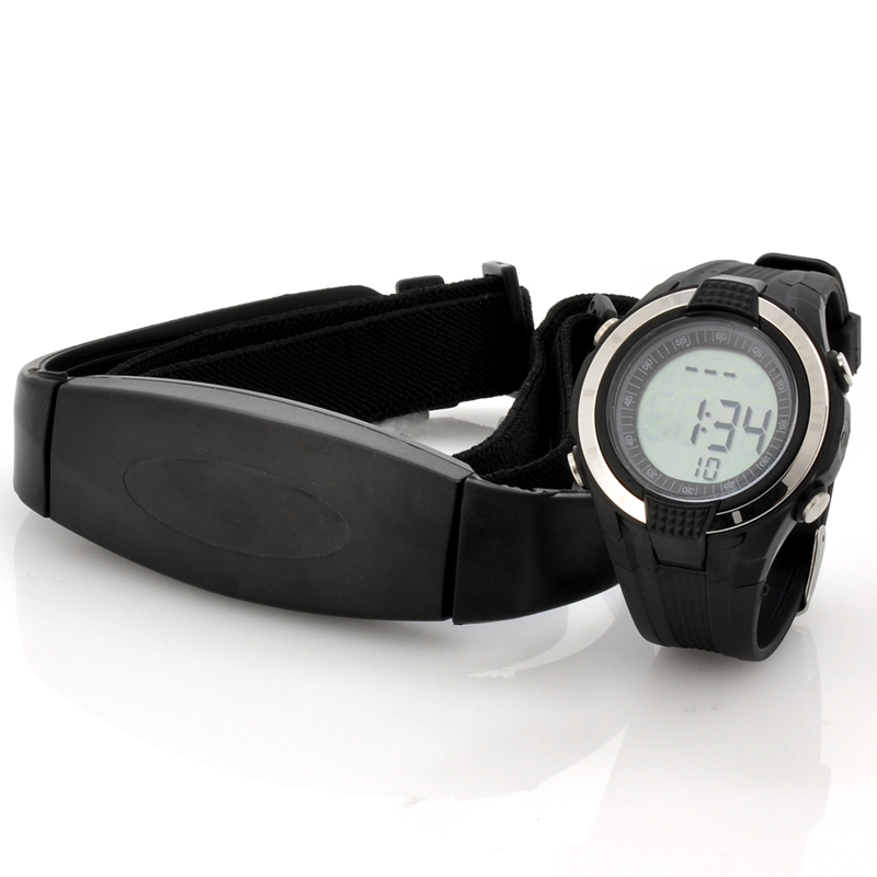 Wholesale Heart Rate Monitor Watch with Chest Belt (EL Backlight, Stopwatc
