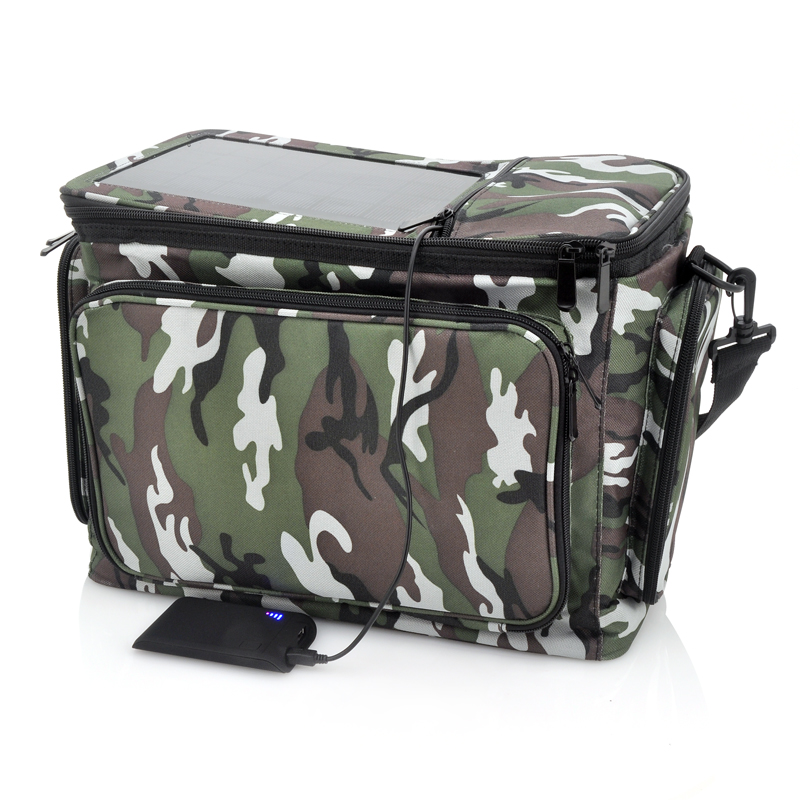 Wholesale Rugged Thermal Bag with 2200mAh Solar Battery Panel - Camo Print