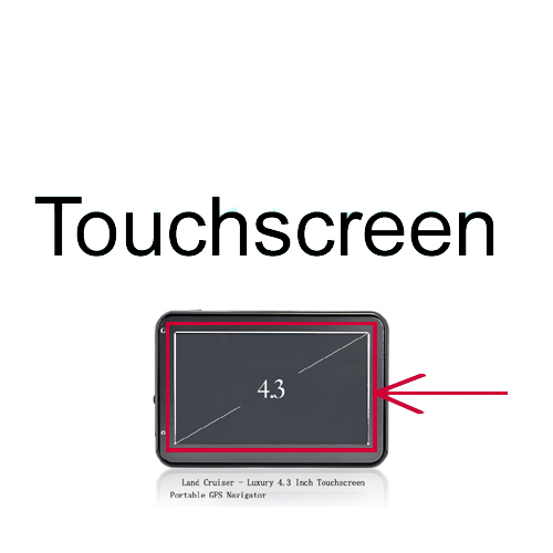 "Wholesale Touchscreen for TMF-CS29 Land Cruiser - 4.3"" Touchscreen GPS Navigator"