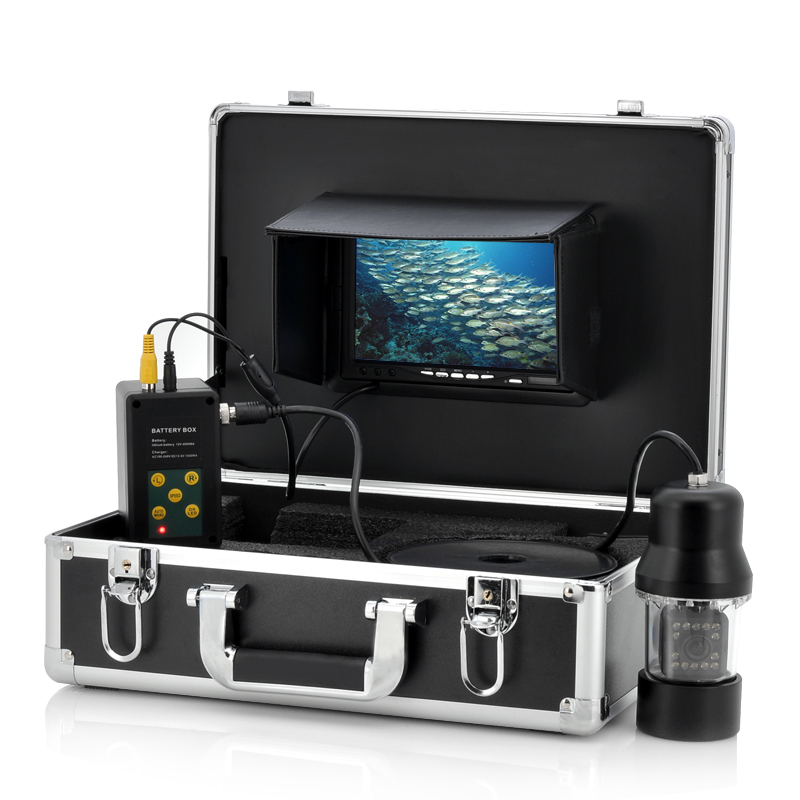 Wholesale Underwater Fishing Camera with 1/3 Inch SONY CCD and 7 Inch Screen (480TVL, Remote Control, 14 White Lights, 360 Degree View)
