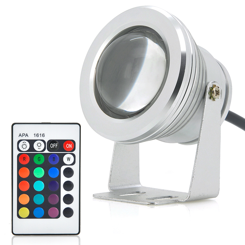 Wholesale 10W Outdoor RGB LED Flood Light (IP66 Waterproof, Remote Control, 900LM)
