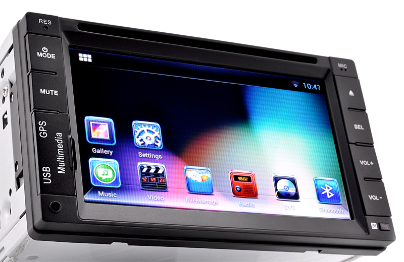6 2 Inch Touchscreen 2 DIN Android Car DVD Player (Dual Core
