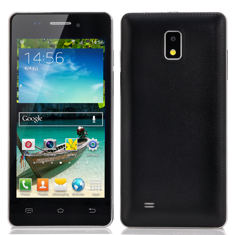 Wholesale 4.7 Inch 3G Android Phone (MT6572 Dual Core 1GHz CPU, 4GB, Black)