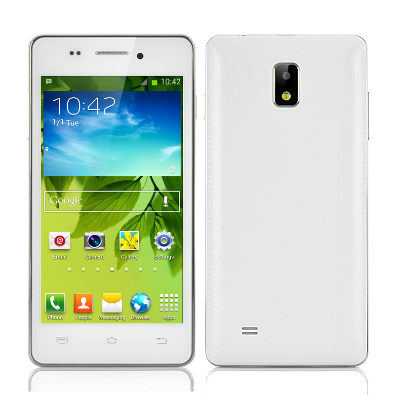 Wholesale 4.7 Inch 3G Android Phone (MT6572 Dual Core 1GHz CPU, 4GB, White)
