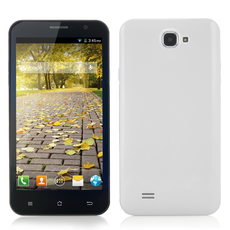 Wholesale 5.3 Inch Quad Core Android Phone (3G, 1.2GHz CPU, 8MP Camera, 960x540, Black)