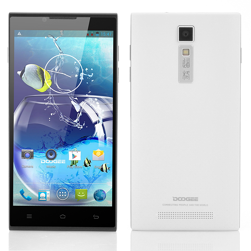 Wholesale DOOGEE DG2014 5 Inch Quad Core Android Phone (IPS OGS 1280x720 Screen, 1.3GHz CPU, White)