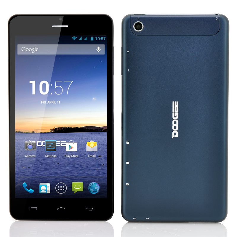 Wholesale DOOGEE DG685 6.85 Inch 3G Android Phablet (QHD IPS Screen, Dual Core 1.3GHz CPU, Blue)