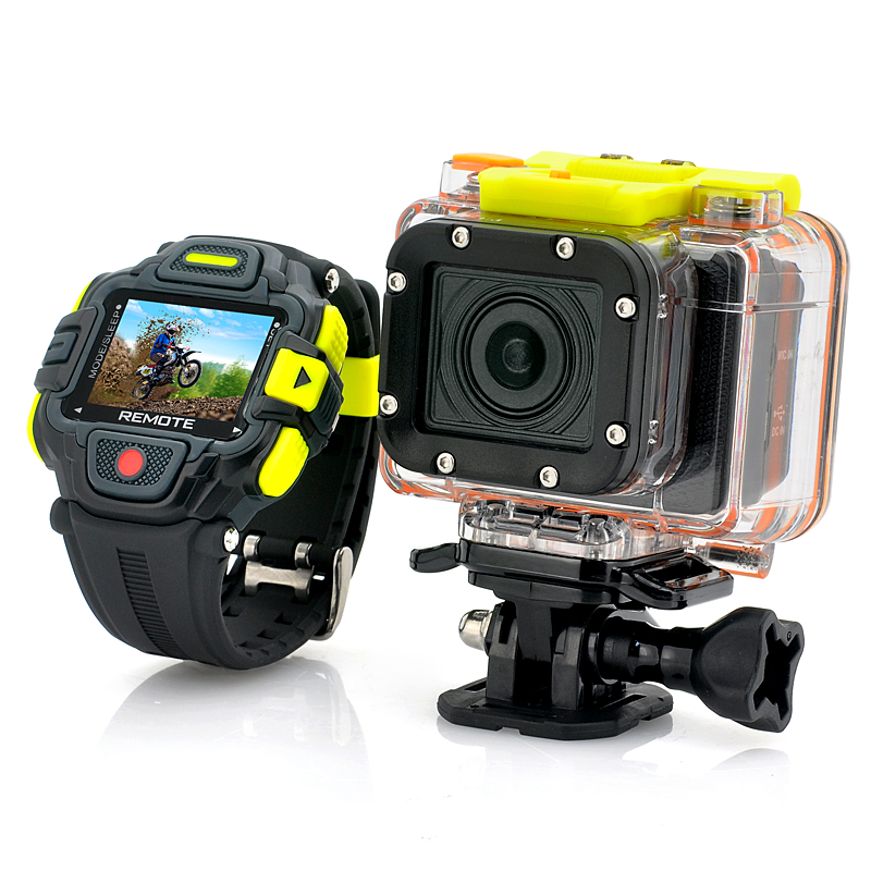 Wholesale Eyeshot - Full HD Wi-Fi Action Camera W/ 2.4GHz Waterproof Watch Remote Control (1920x1080p, Panasonic 16MP CMOS, Ultra Wide Lens)