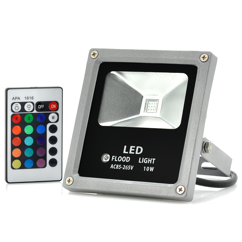 Wholesale Outdoor Waterproof LED Flood Light (10W, Multicolor, Remote Control, 780LM)