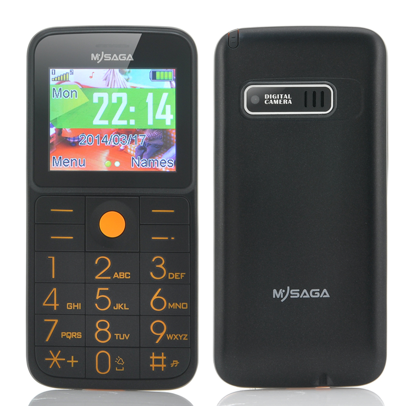 Wholesale MySaga D1 Senior Citizen Phone (Dual SIM, FM Radio, LED Flashlig