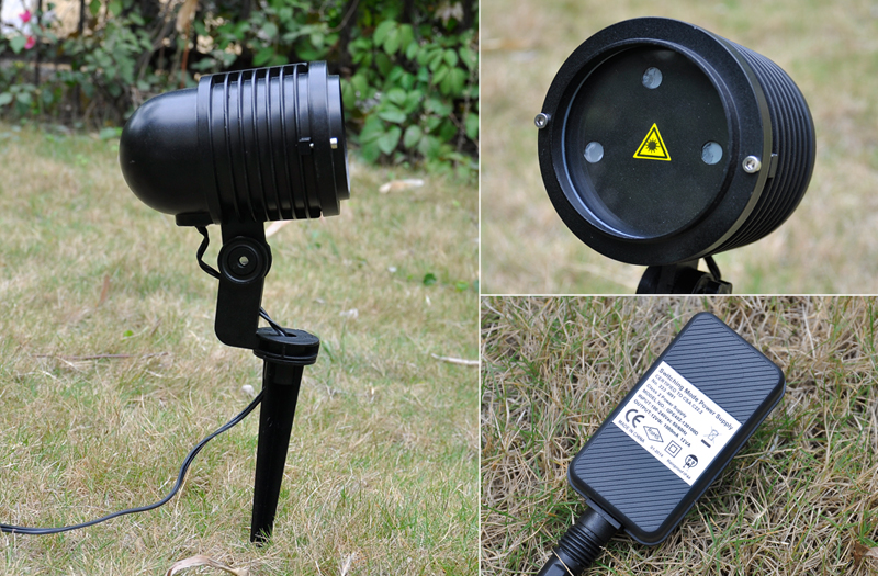 Outdoor 240mW RGB Laser Projector For Gardens + Holiday Decorations (IP65 Waterproof, 10W)