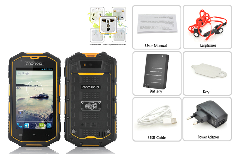 4 Inch Rugged Android Phone Dual Core 1 3ghz Cpu