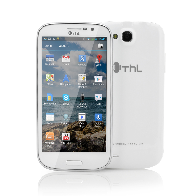 Wholesale ThL W8S 5 Inch Quad Core Android Phone (1920x1080p, 1.5GHz CPU, 2GB RAM, 32GB, White)