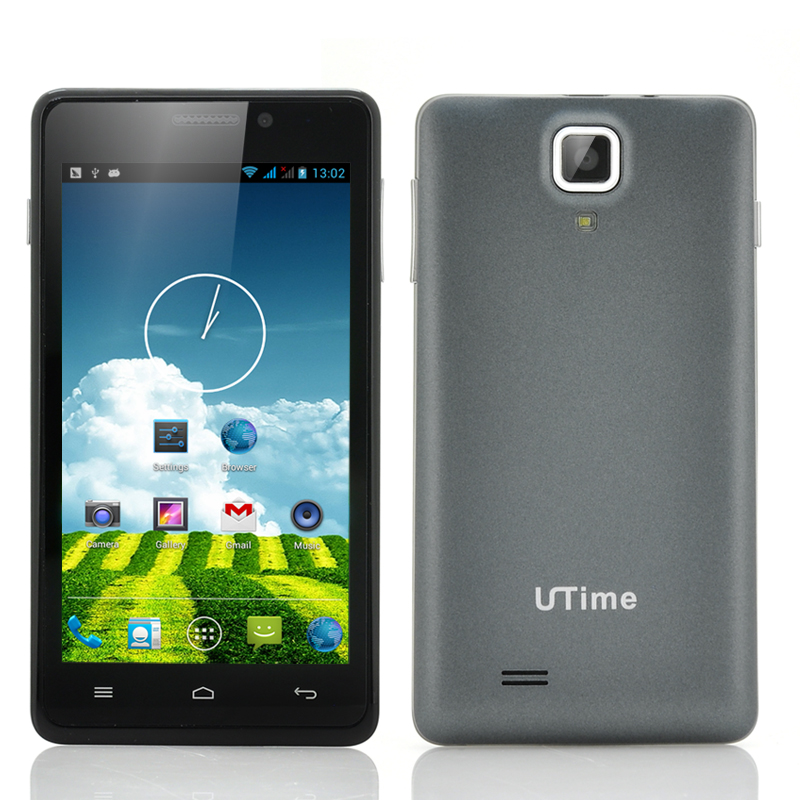 Wholesale UTime G7 4.5 Inch Quad Core Android 4.2 Phone (960x540, 1.2GHz CPU, 8MP Rear Camera, Gray)