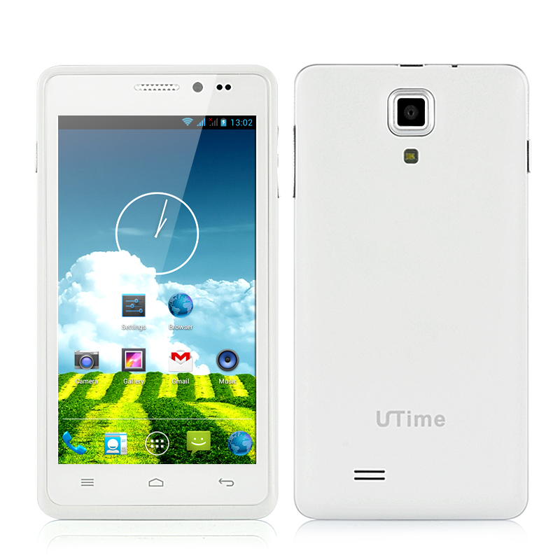 Wholesale UTime G7 4.5 Inch Quad Core Android 4.2 Phone (960x540, 1.2GHz CPU, 8MP Rear Camera, White)