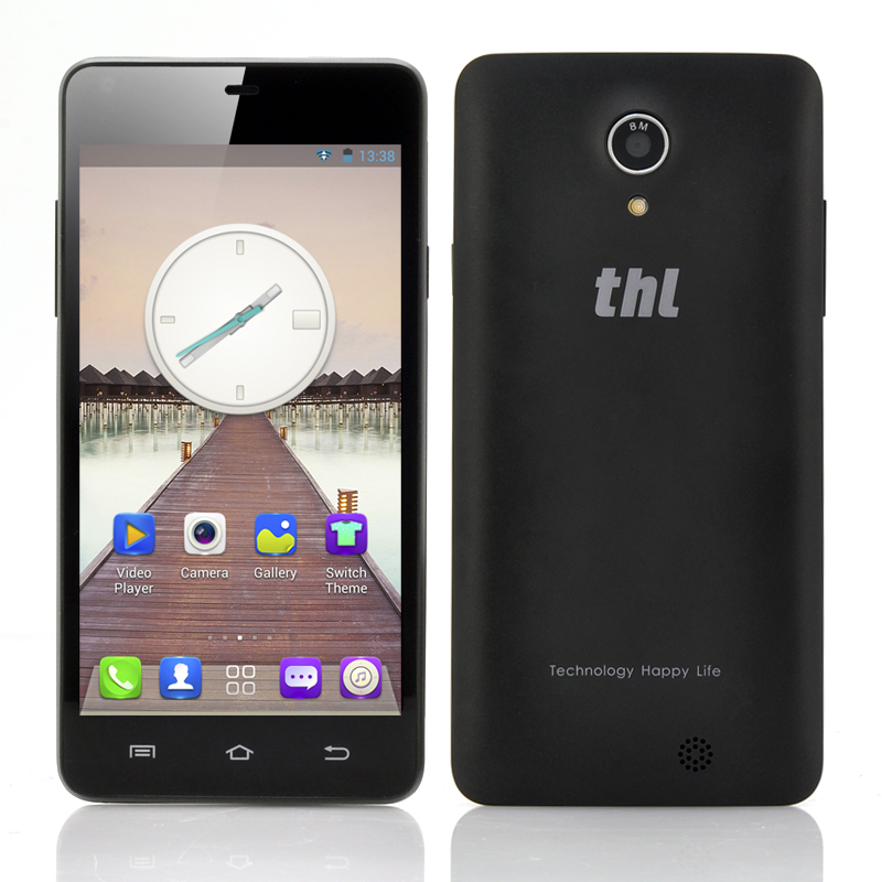 Wholesale thl T5S 4.7 Inch Quad Core 3G Android Phone (960x540, 1.3GHz CPU, Dual Camera, 1GB RAM, Black)