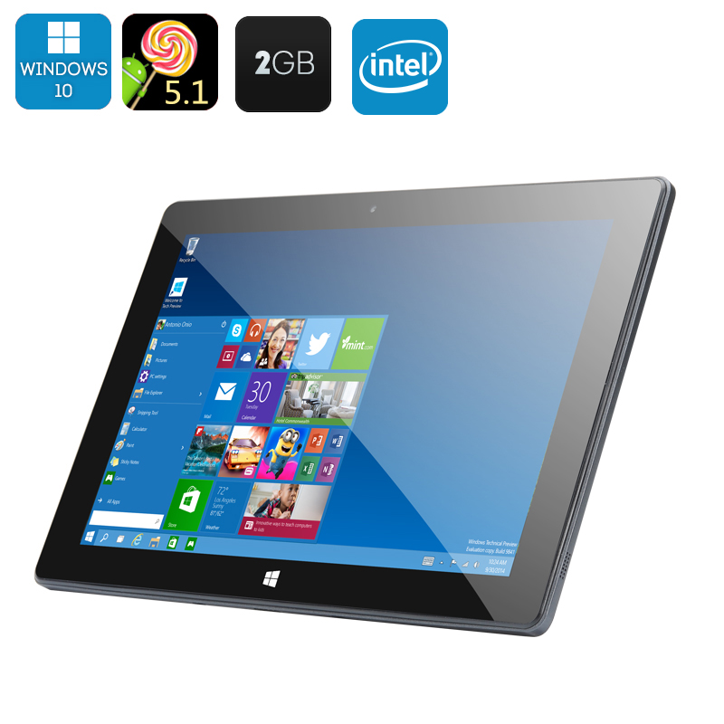 Wholesale 10.1 Inch HD Tablet PC with Windows 10 and Android 5.1 System (Q