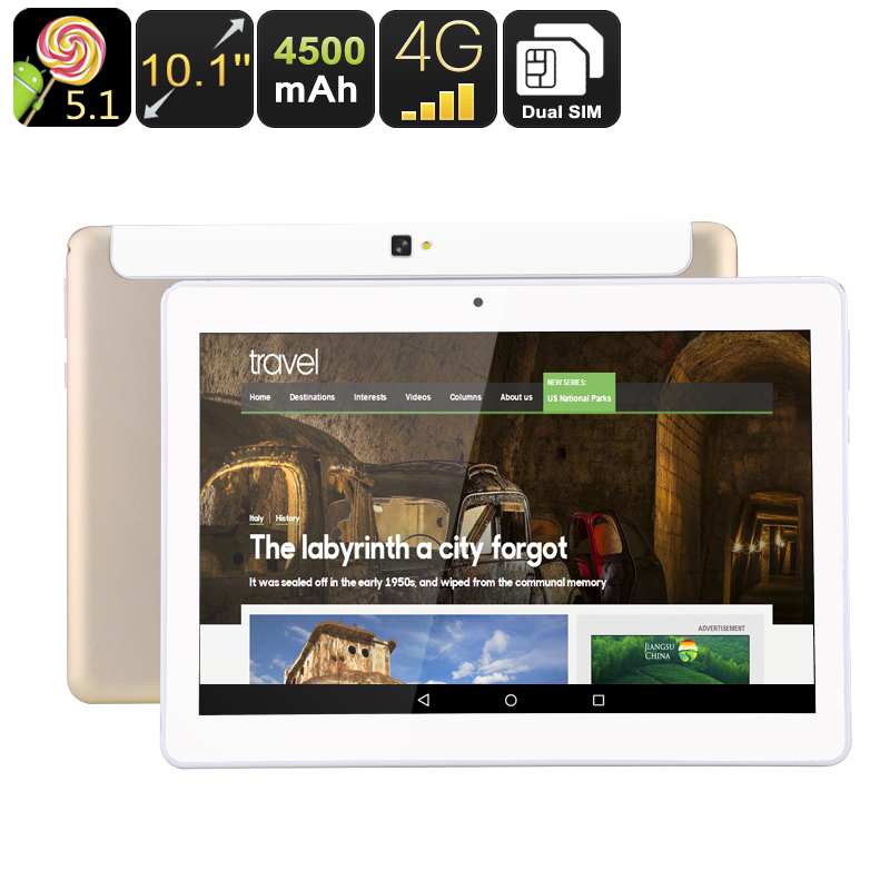 Wholesale 10.1 Inch Android 5.1 Tablet PC + Dual SIM 4G Phone (Quad-Core CPU, OTG, 4500mAh, 16GB)