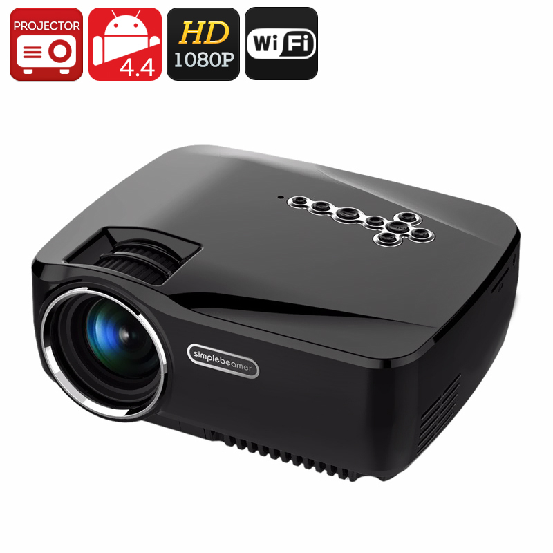 Wholesale 1080p Portable Android LED Projector (1200 Lumen, Bluetooth 4.0,